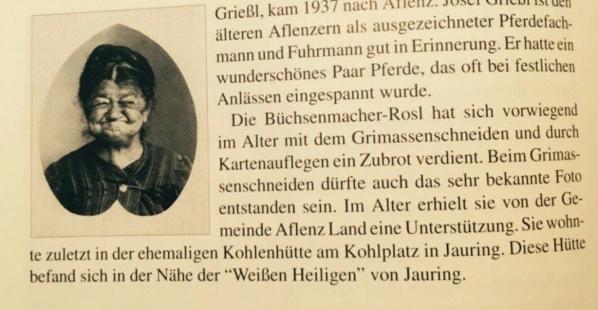 ZWHS Buechsenmacher Rosl Aflenzer Chronik